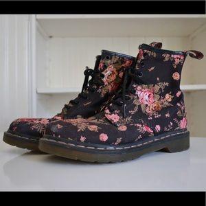 Doc Marten's Floral Boots